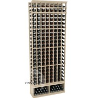 Professional Series - 8 Foot - 8 Column Cellar Rack - Pine Showcase