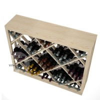 Professional Series - Half Height - Lattice Diamond Wine Bin - Pine Detail