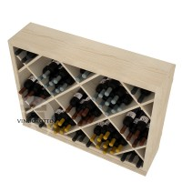 Professional Series - Half Height - Solid Diamond Wine Bin - Pine Detail