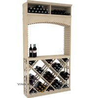 Professional Series - 7 Foot - Tasting Station with Lattice Diamond Bin and Archway - Pine Showcase