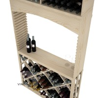 Professional Series - 7 Foot - Tasting Station with Lattice Diamond Bin and Archway - Pine Detail
