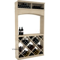 Professional Series - 7 Foot - Tasting Station with Solid Diamond Bin and Archway - Pine Showcase