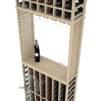 Professional Series - 7 Foot - Standard Tasting Station with Stemware Rack - Pine Detail