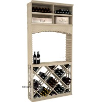 Professional Series - 8 Foot - Tasting Station with Lattice Diamond Bin and Archway - Pine Showcase