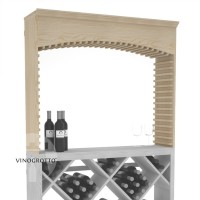 Professional Series Wine Cellar Archway - Pine Showcase
