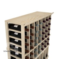 Professional Series - 7 Column Top Shelf - Pine