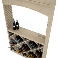 Professional Series - 6 Foot - Tasting Station with Solid Diamond Bin and Archway - Pine Detail