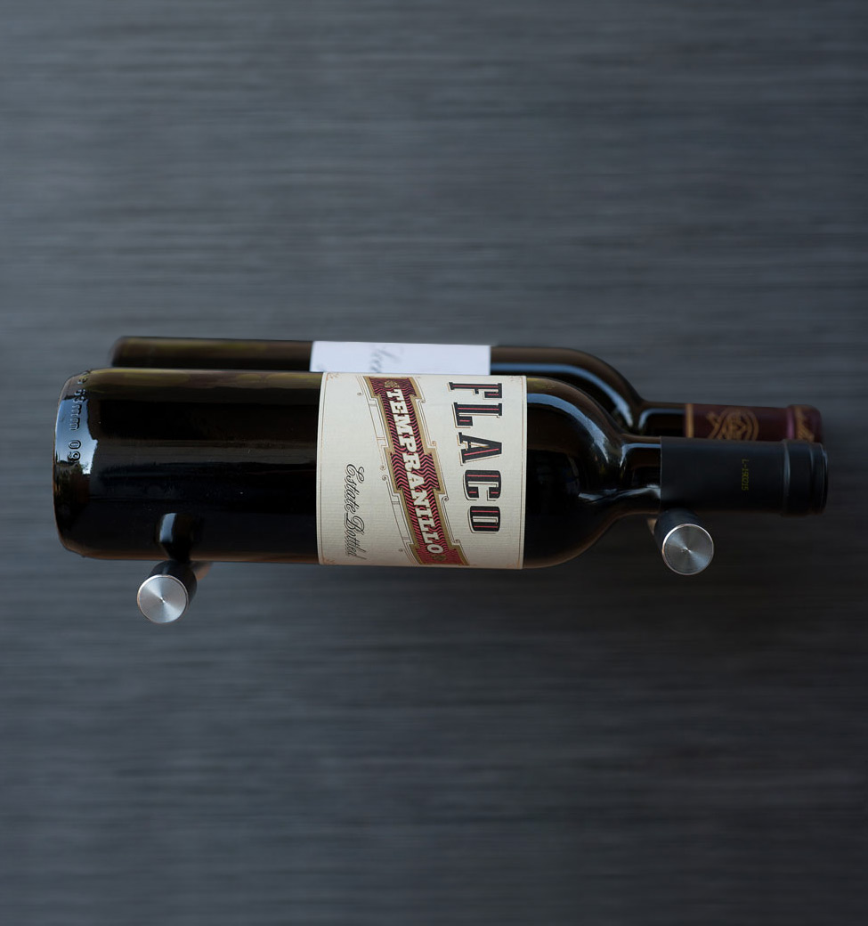 Vino Pins - Double Bottle - Milled-Aluminum Showcase
