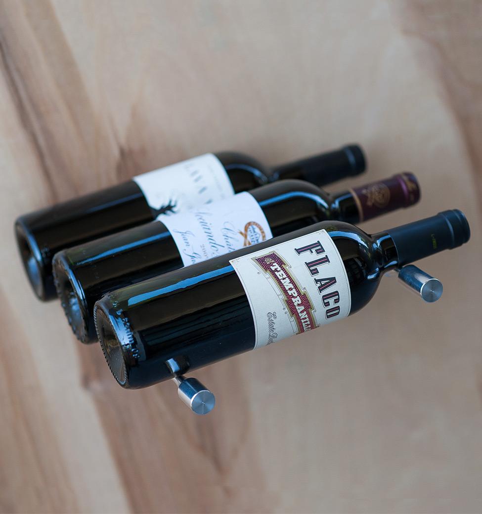 Vino Pins - Triple Bottle - Milled-Aluminum Showcase