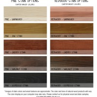 Vino Grotto Stain Options Color Chart