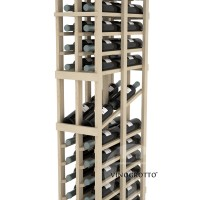 Professional Series - 6 Foot - Double Deep - 2 Column Display Rack - Pine Detail
