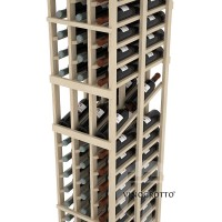 Professional Series - 6 Foot - Double Deep - 3 Column Display Rack - Pine Detail
