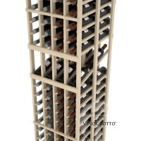 Professional Series - 6 Foot - Double Deep - 4 Column Display Rack - Pine Detail