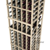 Professional Series - 6 Foot - Double Deep - 5 Column Display Rack - Pine Detail