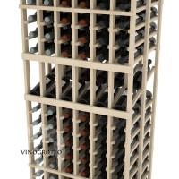 Professional Series - 6 Foot - Double Deep - 6 Column Display Rack - Pine Detail