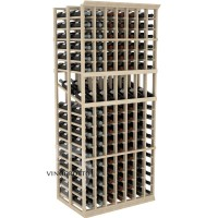 Professional Series - 6 Foot - Double Deep - 7 Column Display Rack - Pine Showcase