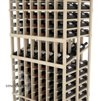 Professional Series - 6 Foot - Double Deep - 7 Column Display Rack - Pine Detail
