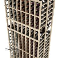 Professional Series - 6 Foot - Double Deep - 8 Column Display Rack - Pine Detail