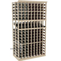 Professional Series - 6 Foot - Double Deep - 9 Column Display Rack - Pine Showcase