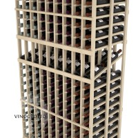 Professional Series - 6 Foot - Double Deep - 9 Column Display Rack - Pine Detail