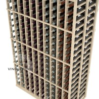 Professional Series - 6 Foot - Double Deep - 10 Column Cellar Rack - Pine Detail