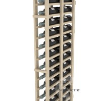 Professional Series - 6 Foot - Double Deep - 1 Column Cellar Rack - Pine Detail