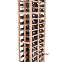 Professional Series - 6 Foot - Double Deep - 2 Column Cellar Rack - Pine Detail