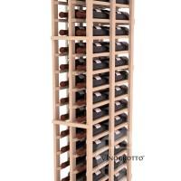 Professional Series - 6 Foot - Double Deep - 2 Column Cellar Rack - Pine Detail