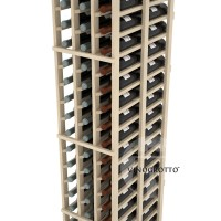 Professional Series - 6 Foot - Double Deep - 3 Column Cellar Rack - Pine Detail