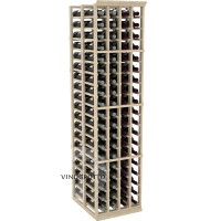 Professional Series - 6 Foot - Double Deep - 4 Column Cellar Rack - Pine Showcase