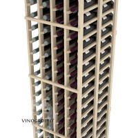 Professional Series - 6 Foot - Double Deep - 4 Column Cellar Rack - Pine Detail