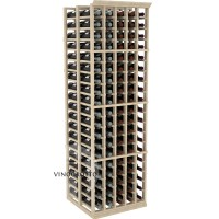 Professional Series - 6 Foot - Double Deep - 5 Column Cellar Rack - Pine Showcase