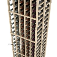 Professional Series - 6 Foot - Double Deep - 5 Column Cellar Rack - Pine Detail