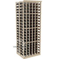 Professional Series - 6 Foot - Double Deep - 6 Column Cellar Rack - Pine Showcase