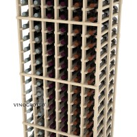 Professional Series - 6 Foot - Double Deep - 6 Column Cellar Rack - Pine Detail
