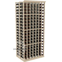 Professional Series - 6 Foot - Double Deep - 7 Column Cellar Rack - Pine Showcase