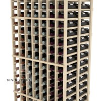 Professional Series - 6 Foot - Double Deep - 7 Column Cellar Rack - Pine Detail