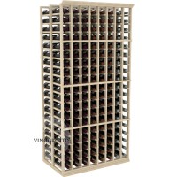 Professional Series - 6 Foot - Double Deep - 8 Column Cellar Rack - Pine Showcase