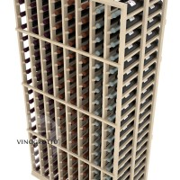 Professional Series - 6 Foot - Double Deep - 8 Column Cellar Rack - Pine Detail