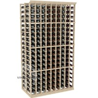 Professional Series - 6 Foot - Double Deep - 9 Column Cellar Rack - Pine Showcase