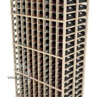 Professional Series - 6 Foot - Double Deep - 9 Column Cellar Rack - Pine Detail