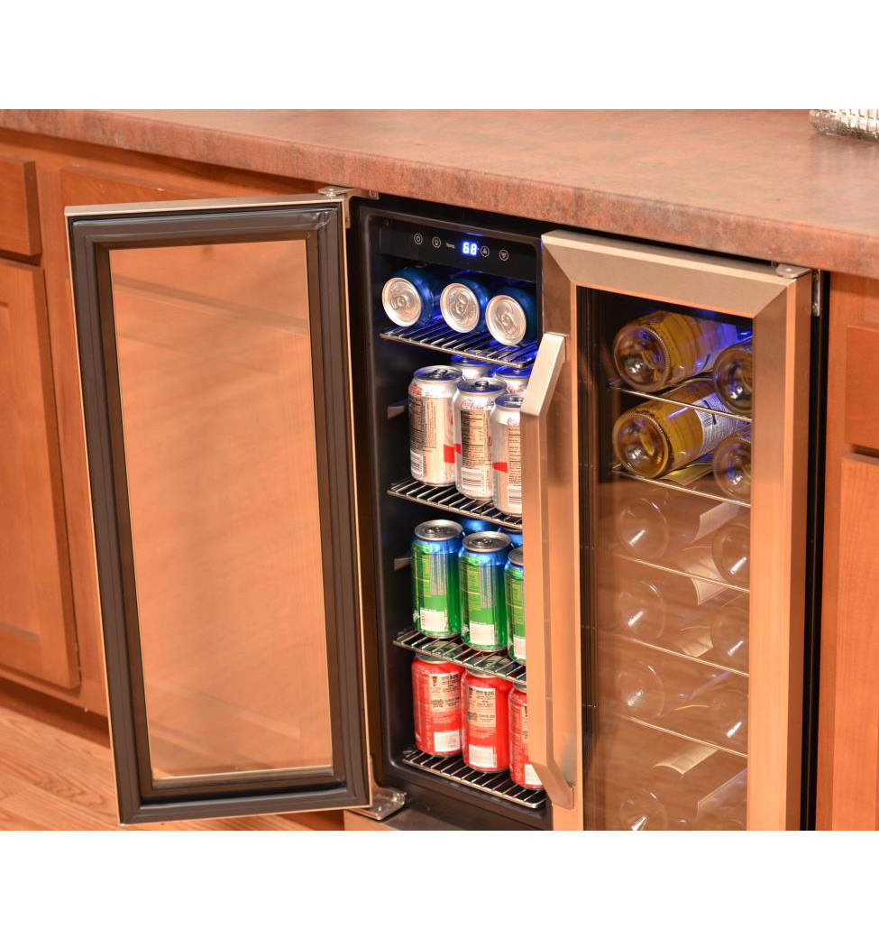 Newair Awb 360db Dual Zone Built In Wine And Beverage
