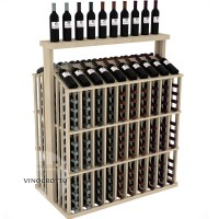 Retail Value Series - 260 Bottle Full Aisle with Top Shelf Display - Pine Showcase