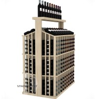 Retail Value Series - 260 Bottle Full Aisle with Top Shelf Display - Pine Detail