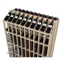 Retail Value Series - 280 Bottle Double Reveal Commercial Aisle Display - Pine