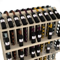 Retail Value Series - 300 Bottle Commercial Aisle Display with 4 Shelves - Pine