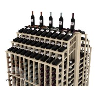 Retail Value Series - 440 Bottle Double Deep Commercial Aisle Display - Triple Reveal - Pine