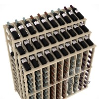 Retail Value Series - 220 Bottle Half Aisle Commercial Display - Pine