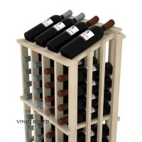 Retail Value Series - 52 Bottle Half Aisle Commercial Display - Pine