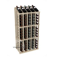 Retail Value Series - 65 Bottle Half Aisle Commercial Display - Pine Showcase